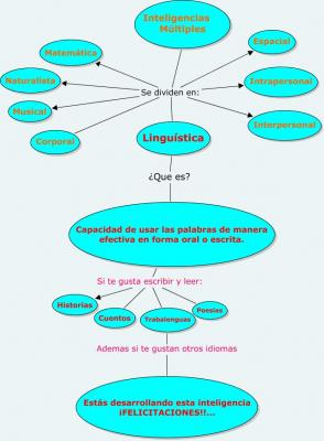 mapa conceptual de inteligencias multiples